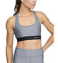 Under Armour Mid Crossback Bra - Sport-Bh - Damen, Grey