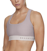 Under Armour Mid Crossback Bra - Sport-Bh - Damen, Rose/Grey
