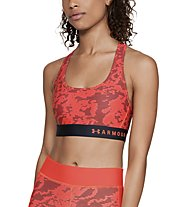 Under Armour Mid Crossback Print (Cup B) - reggiseno sportivo, Red