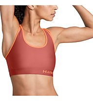 Under Armour Mid Crossback Strappy - Sport BH mittlerer Halt - Damen, Red