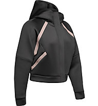 Under Armour Misty Signature Spacer Full Zip - giacca fitness con cappuccio - donna, Black/Pink