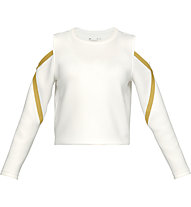 Under Armour Misty Signature Spacer LS - Langarmshirt Training - Damen, White/Green