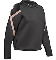 Under Armour Misty Signature Spacer LS - maglietta fitness - donna, Black/Pink