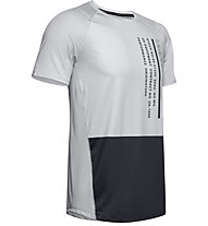Under Armour MK-1 Colorblock - T-shirt fitness - uomo, Light Grey