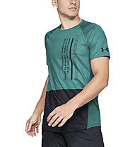 Under Armour MK-1 Colorblock - T-shirt fitness - uomo, Green