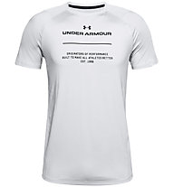 Under Armour MK-1 Graphic SS - Trainingsshirt - Herren, Light Grey/Black