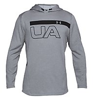 Under Armour MK-1 Terry Graphic - maglia fitness - uomo, Grey