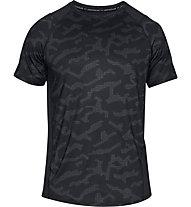 Under Armour MK1 SS Printed - T-Shirt - Herren, Black
