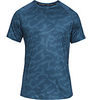 Under Armour MK1 SS Printed - T-Shirt - Herren, Blue