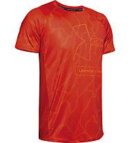 Under Armour MK1 Tonal Print - T-shirt - Herren, Red