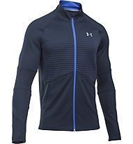 Under Armour No Breaks ColdGear - giacca running, Blue