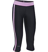 Under Armour HeatGear Training/Fitness-Caprihose Damen, Black/Pink