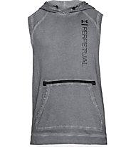Under Armour Perpetual Garment Dye Hoodie - felpa con cappuccio senza maniche - uomo, Grey