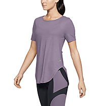 Under Armour Perpetual SS - T-shirt fitness - donna, Violet