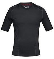 Under Armour Perpetual Superbase Half SLV - Fitnessshirt kurzarm - Herren, Black