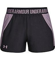 Under Armour Play Up 2.0 - pantaloncini fitness - donna, Black/Purple