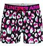 Under Armour Play Up Printed SHRT - pantaloni corti fitness - bambina, Black/Multicolor