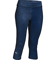 Under Armour Printed Capri pantaloni da corsa donna, Black/Blue