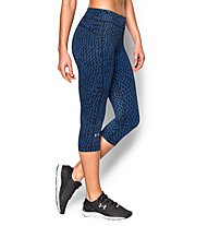 Under Armour Printed Capri Laufhose Damen, Black/Blue