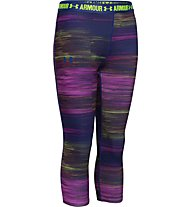 Under Armour Printed HeadGear Armour Capri Mädchen, Purple Sky