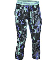 Under Armour Printed HeadGear Armour Capri Mädchen, Stealth Grey