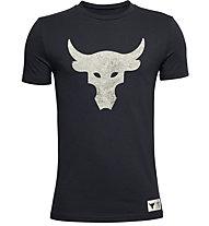 Under Armour Project Rock Brahma Bull - T-shirt fitness - bambino, Black