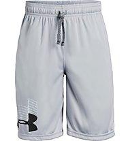 Under Armour Prototype Logo - pantaloni corti - ragazzo, Light Grey