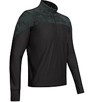 Under Armour Qualifier Camo - maglia running con zip - uomo, Black