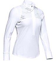 Under Armour Qualifier Camo - maglia running con zip - donna, White