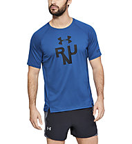Under Armour Qualifier Glare - Laufshirt - Herren, Blue