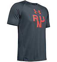 Under Armour Qualifier Glare - Laufshirt - Herren, Grey