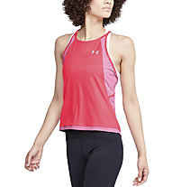 Under Armour Qualifier Iso-Chill Embossed - top running - donna, Pink