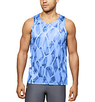 Under Armour Qualifier Iso-Chill Printed - top running - uomo, Blue