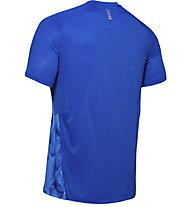 Under Armour Qualifier Iso-Chill Printed Run - Laufshirt - Herren, Blue