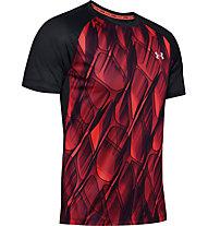 Under Armour Qualifier Iso-Chill Printed Run - Laufshirt - Herren, Red/Black