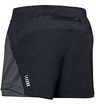 Under Armour Qualifier Speedpocket - Laufhose kurz - Herren, Black/Grey