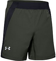 Under Armour Qualifier Speedpocket - Laufhose kurz - Herren, Dark Green/Black