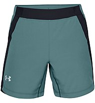 Under Armour Qualifier Speedpocket - Laufhose kurz - Herren, Green/Black