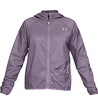 Under Armour Qualifier Storm Packable - giacca running - donna, Grey