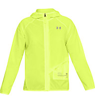 Under Armour Qualifier Storm Packable - giacca running - donna, Yellow