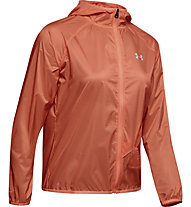 Under Armour Qualifier Storm Packable - giacca running - donna, Orange