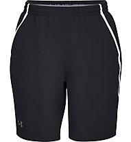 Under Armour Qualifier WG Perf - pantaloni corti fitness - uomo, Black/White