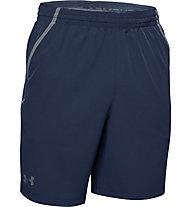 Under Armour Qualifier WG Perf - pantaloni corti fitness - uomo, Dark Blue/Grey