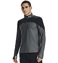 Under Armour Qualifier ½ Zip - maglia running - uomo, Dark Grey/Black