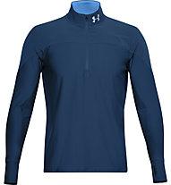 Under Armour Qualifier ½ Zip - maglia running - uomo, Dark Blue