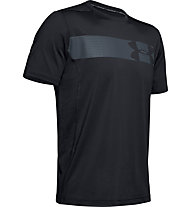 Under Armour Raid Grafic - T-shirt fitness - uomo, Black/Grey