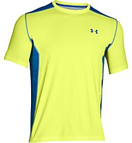 Under Armour UA Raid T-shirt running, Yellow/Blue