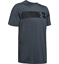Under Armour Raid Grafic - T-shirt fitness - uomo, Dark Grey/Black