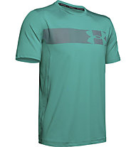 Under Armour Raid Grafic - T-shirt fitness - uomo, Green/Grey