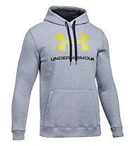 Under Armour UA Rival Fleece Fitted Graphic - Kapuzenpullover - Herren, Grey